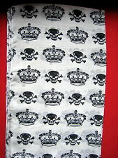 Gorgeous Black And White Skull Crown Scarf New Punk Rock Biker