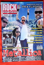 Metallica On Cover Rare Exyu Magazine
