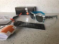 Spy Tice Sunglasses BNIB Grey W White Cross W Black