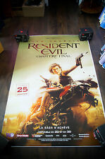RESIDENT EVIL FINAL CHAPTER 4x6 ft Bus Shelter D/S Movie Poster Original 2016