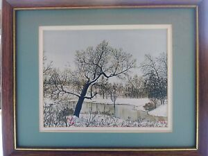 Limited Edition prints of B. Herd signed reproduction of a 'CRYSTAL LAKE' 11/500