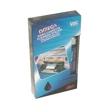 Omega 23022 VHS VCR Cassette Tape Video Recorder Head Cleaner System Wet & Dry