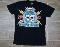 2012 Journey Backyard BBQ Concert Tour Mens T Shirt Lucky 13 Black Sz S *READ