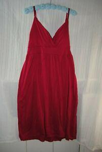 Derek Heart Plus stretch 2X spaghetti strap HALTER TOP DRESS BRIGHT PINK