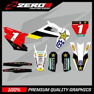 Custom MX Graphics Kit: HUSQVARNA Motocross Graphics TE FE TC FC TX FX FAC RSTAR
