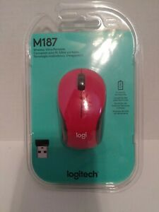 Logitech (M187) RED Wireless USB Scroll Optical Mouse Brand New D2