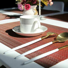 Placemats for Dining Table Woven Vinyl Stain Resistant Table Mats Set of 6