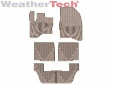 WeatherTech All-Weather Floor Mats - Ford Flex - 2011-2016 - Tan