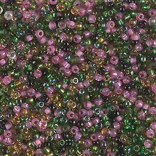 11/0 Tourmaline Mix Glass Round Seed Beads ny Miyuki 10Grams #11-Mix-29