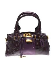 Chloe Paddington Purple Leather & Patent Leather Satchel