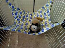 "Ferret Hammock - Blue Floral - 13"" x 14"""