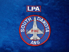 USAF 175TH FIGHTER SQUADRON LOBOS SD ANG F-16 FALCON POCKET PENCIL PATCH SET #1
