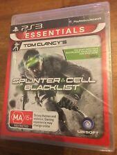 TOM CLANCY'S SPLINTER CELL BLACKLIST PLAYSTATION 3 PS3 AUS PAL VGC BRAND NEW