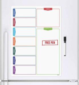 Ckb Ltd® Colour Shopping Slip Magnetic White Fridge Magnet Board Marker Pen Plan