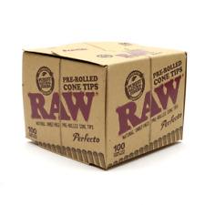 RAW  Perfecto Pre-Rolled Unrefined Cone Filter Tips (100 Pcs)