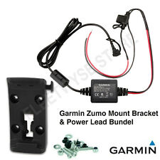 Garmin Motorcycle Mount Bracket Holder+Power Cable Zumo 340LM 345LM 350LM 390LM