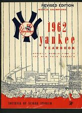 1962 Yankees Official REVISED Yearbook Mickey Mantle Roger Maris Yogi Berra Ford
