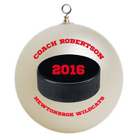 Personalized Custom Hockey Coach Christmas Ornament