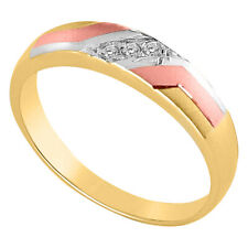 14k Two-toned Gold Cubic Zirconia 4-mm Ladies Wedding Band