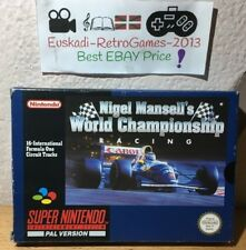 SNES NIGEL MANSELL WORLD CHAMPIONSHIP RACING PAL COMPLETO