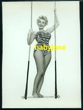 ZSA ZSA GABOR VINTAGE 7X9 PHOTO LEOTARD FISHNETS PINUP TRAPEZE 3RING CIRCUS 1954