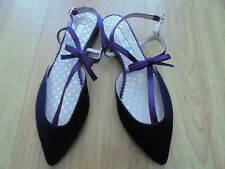 BODEN FLAT NAVY ISABEL BOW POINTED FLATS SIZE 36==3  BNWOB