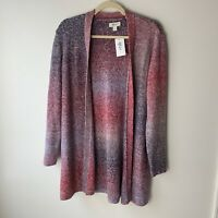 Style & Co. NEW Women's Open Cardigan Sweater Size Medium Long Cotton Blend