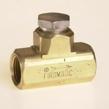 """FIROMATIC B100HCV B-100-HCV CHECK VALVE 3/8"""" NPT(f) x 3/8"""" NPT(f) Silver Cap"""
