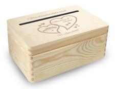 kleine Holz-Geschenkbox  Hochzeit Briefbox (BB4) Geldgeschenke incl Lasergravur