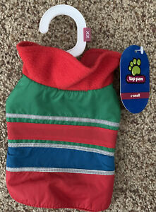 Top Paw Apparel XS Dog clothes Black Friday Striped Coat