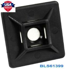 """(100) Cable Wire Zip Tie Wrap Adhesive Pad Mounts 0.75"""" Usa Tough Mounting Clips"""