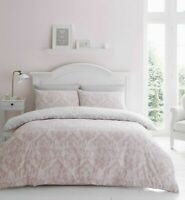 Catherine Lansfield Damask Blush Easy Care Duvet Cover Set All Sizes Free P&P