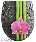 WC-Sitz Toilettendeckel Bambus/Orchidee mit Absenkautomatik und Abnehmbar-78