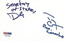 Terry Crews & David Herman Signed Idiocracy 3x5 Index Card PSA/DNA COA Autograph