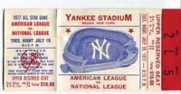 1977 MLB All Star Baseball Game Ticket Stub Yankee Stadium Don Sutton MVP