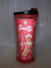 Starbucks 2007 Red Candy Gingerbread Ho Ho Holographic 3D Travel Tumbler 8 OZ