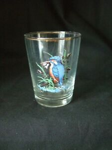 5 x   VINTAGE / RETRO - SHOT GLASSES KINGFISHER DESIGN