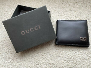 GUCCI New In Box Leather Wallet Mens