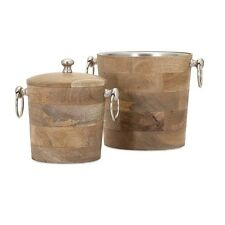 Imax Makana Wood Bar Buckets-Set of 2 71806-2 Misc (functional accessories) New