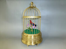 VINTAGE GERMAN KARL GRIESBAUM SINGING BIRD CAGE MUSIC BOX AUTOMATON = WATCH VIDE