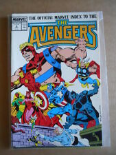 The Official MARVEL Index to the THE AVENGERS #4 1987  Marvel Comics [SA40]