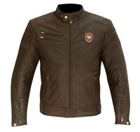 MERLIN ALTON MEN'S LEATHER MOTORCYCLE JACKET BROWN REMOVABLE THERMAL #65-140