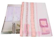 2 PANNELLI tende tenda 65 x 230 rosa modello Elisa