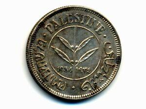 Palestine:KM-6,50 Mils,1934 * Silver * EF+ * RARE Date *