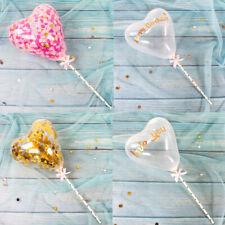 Heart Confetti Latex Balloon Cake Topper Ribbon Dessert Birthday Baby Shower UK