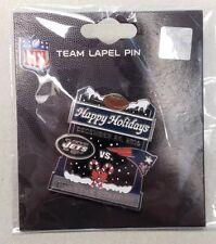 New York Jets VS New England Patriots 12/24/16 Game Day Pin HAPPY HOLIDAYS PIN