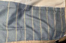 "Croscill Blue And Tan/Beige Striped Queen Size Bedskirt Dust Ruffle NWOT 15"" D"