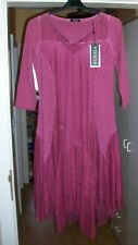 Crisca (BIBA), Damen Kleid, GR. 34, in Oil-Washed-Optik, Bordeaux, Neu