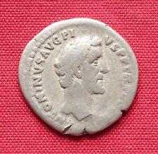 Ancient Roman Antoninus Pius Silver Denarius