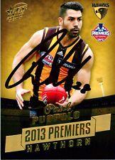 ✺Signed✺ 2013 HAWTHORN HAWKS AFL Premiers Card PAUL PUOPOLO